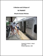 Review and Critique of NJ Transit Bicycle Access Policies