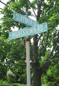 Slayback Drive and Princeton-Hightstown Road