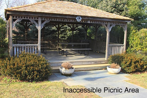 Inaccessible Picnic Area