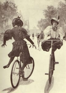 women with bloomers on bicycles from http://www.magnificentrevolution.org/wp-content/uploads/2008/09/bloomers.jpg