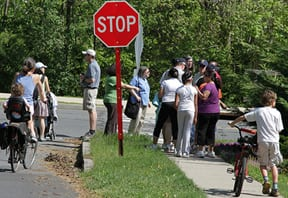 Community Walk and Stop Sign