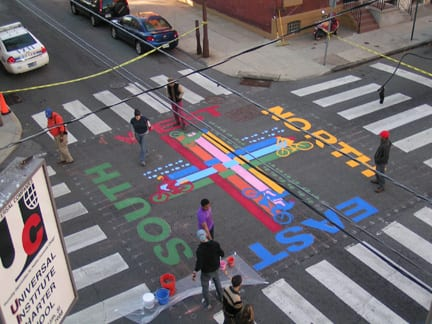 Philadelphia Intersection Mural