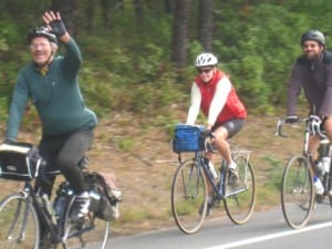 Dan leads riders in a tour of the Pine Barrens