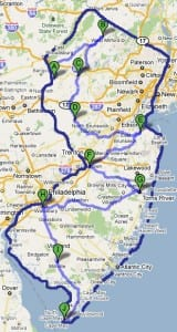 New Jersey Bicycle Route Map