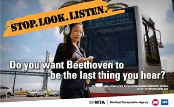 San Francisco pedestrian campaign