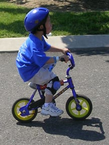 Little Boy Bicycling