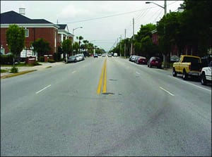 Road Diet, before lane reduction