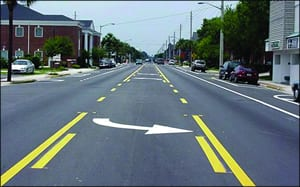 road diet after lane reduction