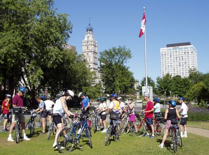 Cycling Group in Quebec