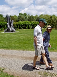 Walking at the Grounds for Sculpture