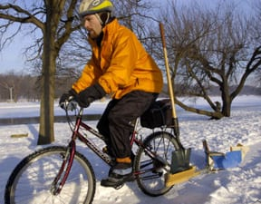 bicycle snow plow