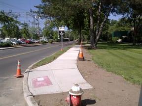 Schlumberger sidewalk